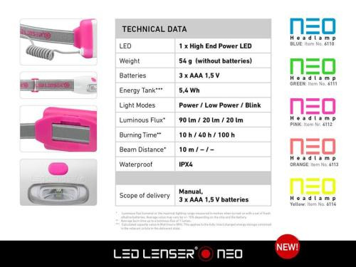 Led Lenser Neo Blue Headlamp