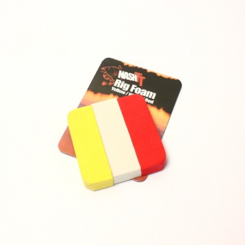 Nash Rig Foam Yellow-white-red